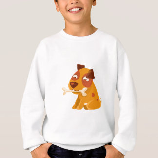 Smiling Puppy Holding A Bone In The Mouth Sweatshirt