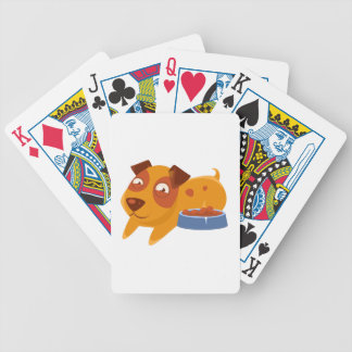Smiling Puppy Next To Bowl Full Of Biscuits Bicycle Playing Cards