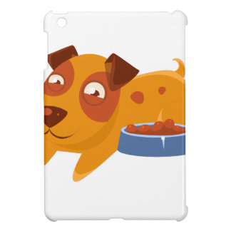 Smiling Puppy Next To Bowl Full Of Biscuits Case For The iPad Mini