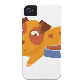 Smiling Puppy Next To Bowl Full Of Biscuits Case-Mate iPhone 4 Cases