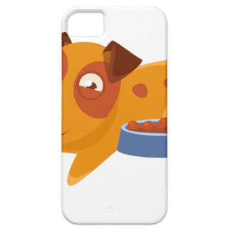Smiling Puppy Next To Bowl Full Of Biscuits iPhone 5 Case