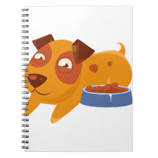 Smiling Puppy Next To Bowl Full Of Biscuits Notebook