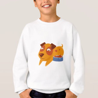 Smiling Puppy Next To Bowl Full Of Biscuits Sweatshirt
