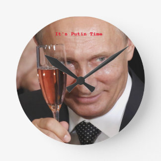 Smiling Putin Wall Clock
