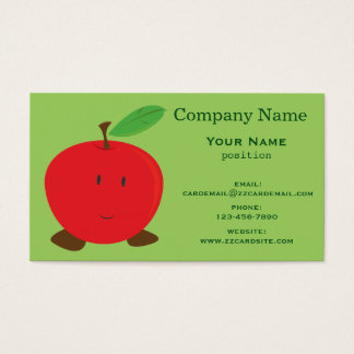 Smiling Red Apple Business Card