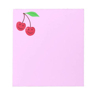 Smiling Red Cherries Notepad