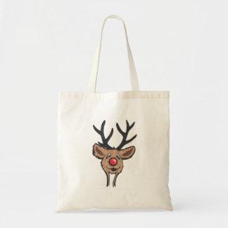 Smiling Reindeer Tote Bag