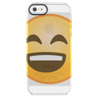 Smiling Relieved Emoji Clear iPhone SE/5/5s Case