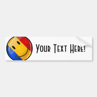 Smiling Romanian Flag Bumper Sticker