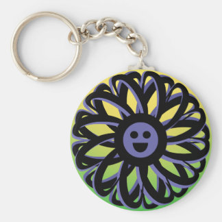 Smiling Sally Flower Keychain - 369