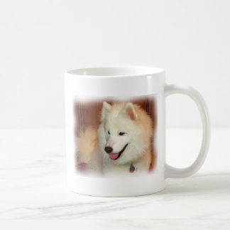 Smiling Samoyed Digital Oil Painting Effect Mug