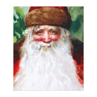 Smiling Santa Claus Stretched Canvas Prints