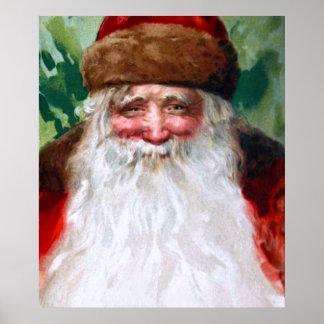 Smiling Santa Claus Print