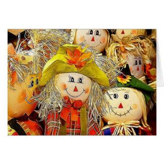 Smiling Scarecrows Card