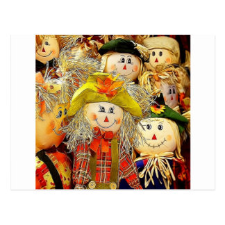 Smiling Scarecrows Postcard