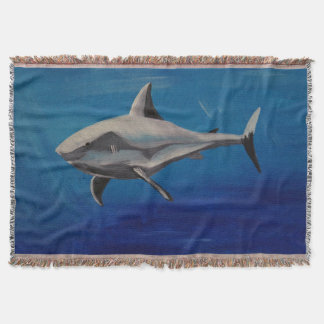 Smiling shark throw blanket