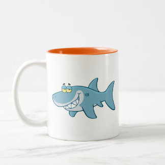 Smiling Shark Two-Tone Coffee Mug