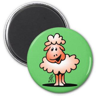 Smiling Sheep Magnet