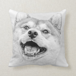 Smiling Shiba Inu dog Throw Pillow