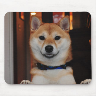 Smiling Shiba Inu Puppy Dog Mouse Pad