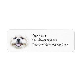 Smiling Shih Tzu Return Address Label