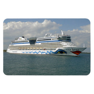 Smiling Ship Rectangular Photo Magnet