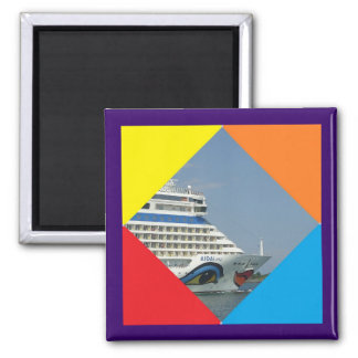 Smiling Ship Square Magnet