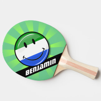 Smiling Sierra Leone Flag Ping Pong Paddle
