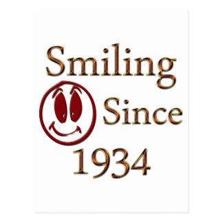 Smiling Since 1934 Postcard
