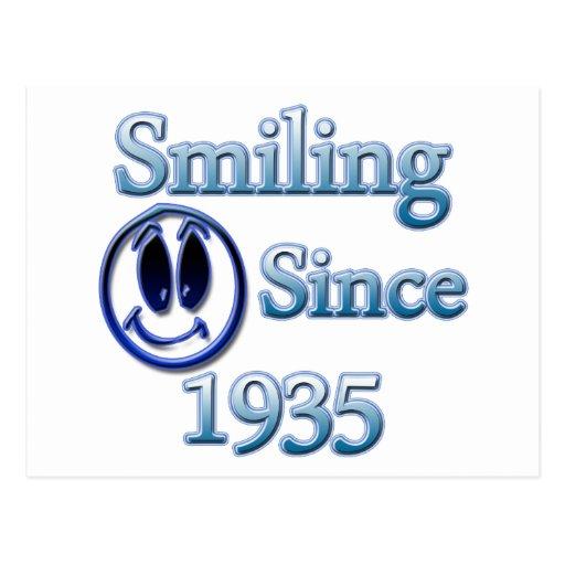 Smiling Since 1935 Postcard