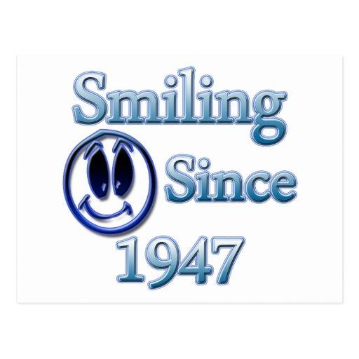 Smiling Since 1947 Postcard