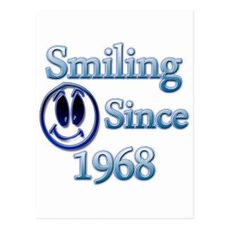 Smiling Since 1968 Postcard