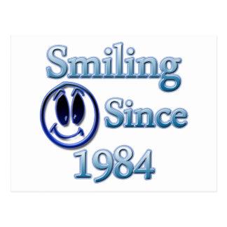 Smiling Since 1984 Postcard