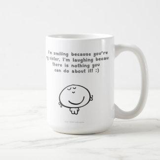 smiling sister coffee mug