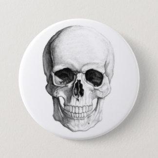 Smiling Skull 3 Inch Round Button