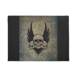 Smiling Skull Door Mat