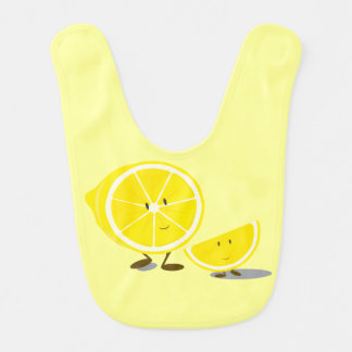 Smiling sliced lemons bib