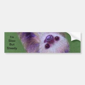 Smiling Sloth Bumper Sticker