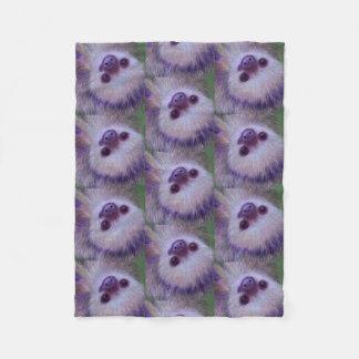 Smiling Sloth Fleece Blanket