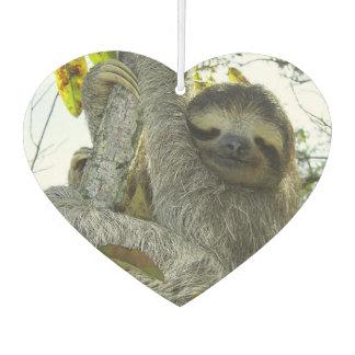 Smiling Sloth Heart Air Freshener, Emerald Sea Air Freshener