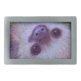 Smiling Sloth Rectangular Belt Buckles