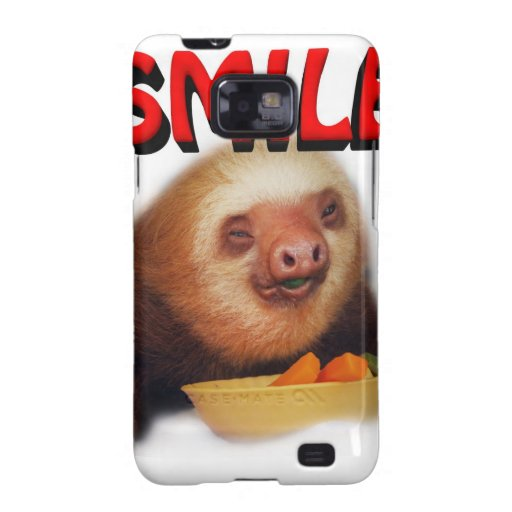 smiling slothie samsung galaxy s2 covers