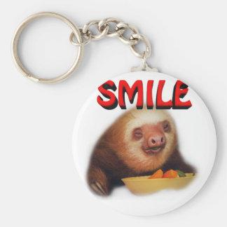 smiling slothie keychain