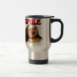 smiling slothie travel mug