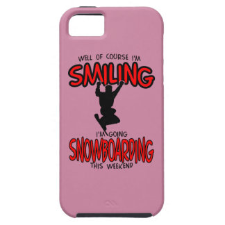 Smiling SNOWBOARDING weekend 2.PNG iPhone 5 Covers
