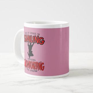 Smiling SNOWBOARDING weekend 2.PNG Large Coffee Mug