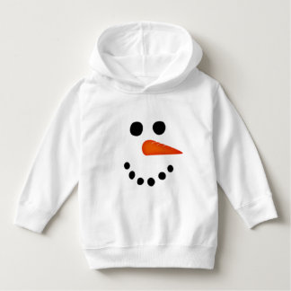 Smiling Snowman Face Winter Toddler Hoodie