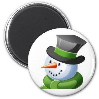 Smiling Snowman Magnet