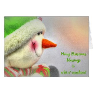 Smiling Snowman Merry Christmas Sunshine Card