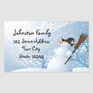 Smiling Snowman Personalized Stickers